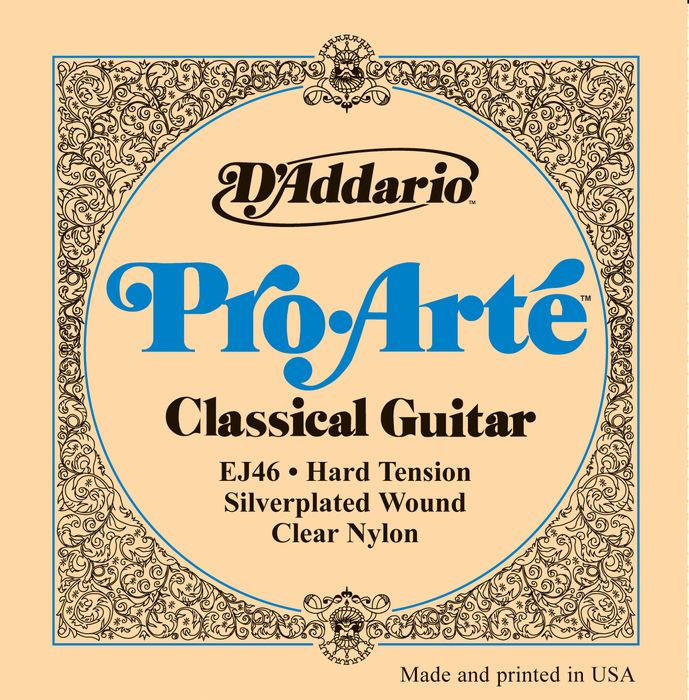 D'Addario EJ46 Pro Arte Classical Silver/Clear Hard Acoustic Strings