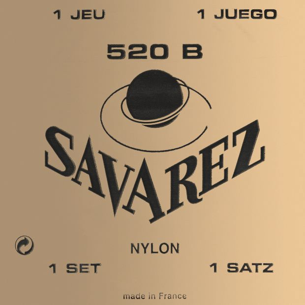 Savarez Traditional White Card 520B Light Tension Classical Strings
