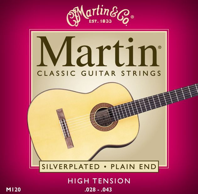 Martin M120 Silverplated Classical Acoustic Guitar Strings